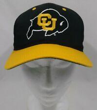 Colorado Buffaloes CU Vtg 90's NCAA Black Gold Snapback Cap Hat VGUC