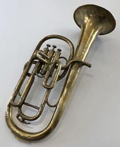 Instrument de Musique Trompette Tuba Saxhorn ancien COUESNON & CIE 1889 en état