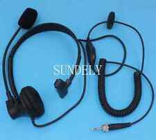 New Over-Head Headset/Earpiece Mic Uniden Radio UH073 UH075 UH076 UH078  Marine