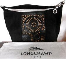 Original Longchamp   Damentasche  klein schwarz  echt Leder und  Stoff limitiert