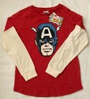 Captain America Marvel Boys Red T Shirt Top Sizes 2 & 9 BRAND NEW WITH TAGS