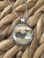 Whale Beach Wood Ocean Sea Summer Island Pendant Silver Chain Necklace NEW