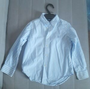 Boys Ralph Lauren Long Sleeve Shirt Age 4 Years 4T. Blue and White Striped.