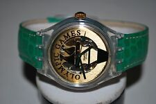 Swatch AUTOMATIC Watch 1995 SAZ-104 PYRSOS Olympic Specials 23 Jls Free Shipping
