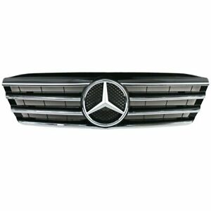 NEW Front Black Avantgarde Grill Grille For Mercedes-Benz W203 C-Class 2000-2007