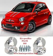 KIT 4 DISTANZIALI  RUOTE  SP. 5mm. + 16 BULLONI PER FIAT 500 ABARTH 1.4T JET.