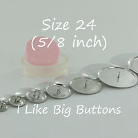 """50 Cover Buttons - Choose FLAT or WIRE - Size 24 (5/8""""/15mm) Fabric SELF COVERED"""