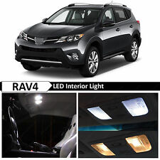 10x White Interior LED Lights Package Kit for 2006-2014 Toyota RAV4 + TOOL