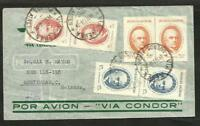 ARGENTINA 1938 AIR CONDOR COVER TO HOLLAND, VERY GOOD POSTAGE