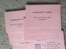 Monopoly Game, Set Of Community Chest Cards. Genuine Waddingtons Parts.