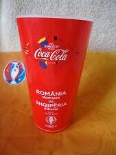 Coca Cola Fan Becher Rumänien - Albanien Match 25