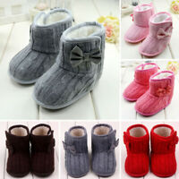 Baby Girls Toddler Shoes Soft Crib Sole Shoes Newborn Kid Babe Winter Warm Boots