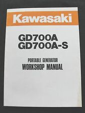 ORIGINAL KAWASAKI GD700A GD700A-S 700 GENERATOR SERVICE REPAIR MANUAL