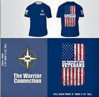 """We Support Veterans"" Men's & Women's t-shirts, by Nine Line Apparel"