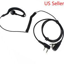Clip-Ear Earpiece/Headset PTT Mic For Kenwood Radio TK-3173 TK-3200 TK-3200L