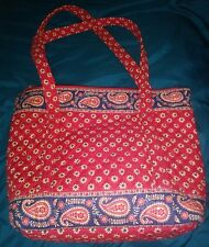 Vera Bradley Red Paisley Floral Quited Purse a1