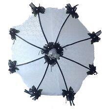 "32"" Bridal Shower Wedding  Black roses Umbrella Parasol"
