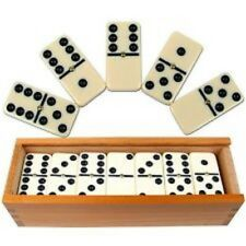 6cm Hi Quality Double Dominos With Spinner - Complete In Carry Case. - 28 Piece