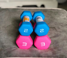 CAP Neoprene Hex Dumbbells Weights 10 lb Set (2 pair, 3s, & 2s) for home gym