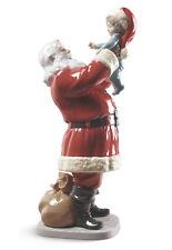 "LLADRO Porcelain :MERRY CHRISTMAS SANTA!  01009254 Size: 38x13cm Height:15"""
