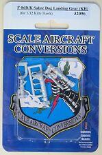 F-86D/K Sabre Dog Landing Gear for 1/32nd Scale Kitty Hawk Model SAC 32096