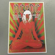 AC/DC - CONCERT POSTER KANSAS CITY SUNDAY 3rd AUGUST 1986 (A3 SIZE)
