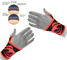 FS Pair Neoprene Wrist Thumb Brace Support Gym WeightLifting Wraps Straps Orange