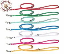 Leather Dog Leash Hands Free Lead Two Dogs Training Multi Use L XL Dogs