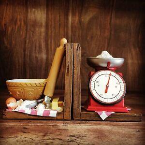 Baking Shelf Tidy Bookends