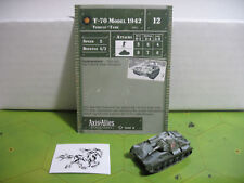 Axis & Allies Set 2 II T-70 Model 1942 with card 13/45