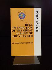 BULL OF INDICTION By Pope John Paul II - 1999, Catholic.