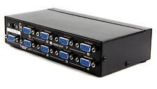 8way/Port SVGA/VGA Duplicator/Multiplexer/Splitter PC/TV/Projector CRT Monitor