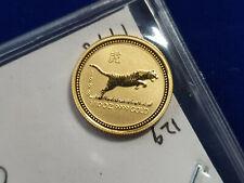 🌟1998 Australia Gold Lunar Series I Year of the TIGER 1/10 oz $15 - BU