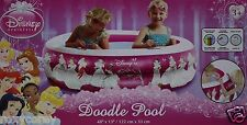 Disney Princess Inflatable Doodle Pool 48x13 Crayons included Ages 3+ Nib
