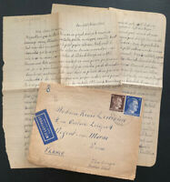 1941 Lager Marie Bitterfeld Germany Lager Labour Camp Cover To France W Letter