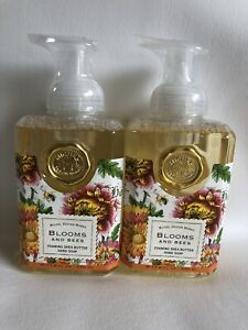 2 Michel Design Works BLOOMS AND BEES Foaming Shea Butter Hand Soaps 17.8 oz