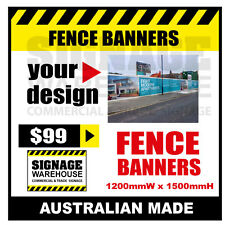 Custom Outdoor Fence Mesh Banner Sign Wrap - 1200mmW x 1500mmH Signage Warehouse