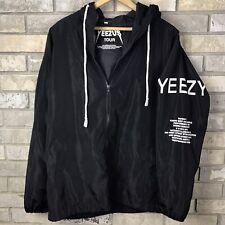 Rare Authentic Yeezy Yeezus Tour Windbreaker Season 1 2015 Medium Black 3 Kanye