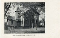 Rare Early Reformed Church At Marlboro Monmouth County NJ New Jersey Postcard !