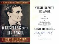 Sidney Blumenthal~SIGNED IN PERSON~Wrestling with His Angel~1st/1st + Photos!!