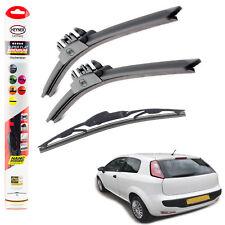"Fiat Punto EVO HEYNER SUPER FLAT PREMIUM wiper blades 26""15""12""C set of 3"