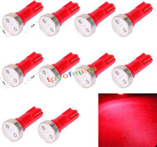 10x T5 74 70 73 coches SMD LED Cuña Gauge Dashboard Bombilla Rojo 12V