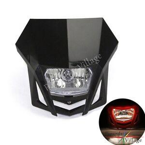 Dirt Bike Motorcycle Universal Vision Headlight For Honda Yamaha Suzuki Headlamp