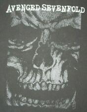 Avenged Sevenfold Skull Face Print Black T-Shirt Extra Large