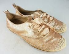 Womens COACH Size 8B Ramira Glitter Gold Comfort Flat Shoes Casual 34A0945