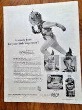 1953 Karo Syrup Ad Space Man Space Suit Little Man from Mars