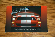 SHELBY GT500 MEDIA LAUNCH KIT  - HAND SIGNED BY CARROLL SHELBY
