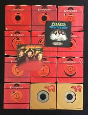 """BEE GEES Collection PIC SLEEVES/TRAGEDY/FEVER/MASSACHUSETTS 14 x 7"""" 45 VINYL LOT"""