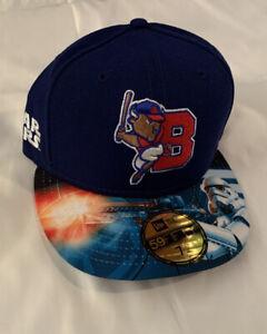 Buffalo Bison New Era MiLB 59Fifty Star Wars Stormtrooper Hat NWT 7 1/4