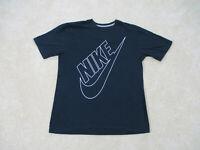Nike Shirt Adult Medium Black Black White Spell Out Swoosh Cotton Mens 90s A42